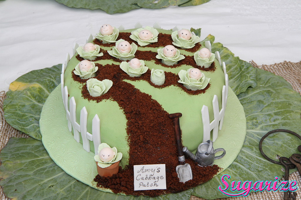 cabbage Patch cake sugarize
