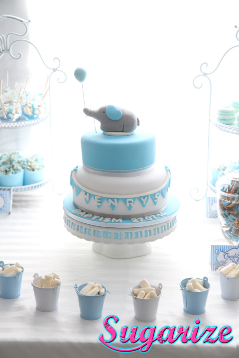 sugarize elephant and balloon cake