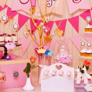 Pink dessert buffet table sugarize