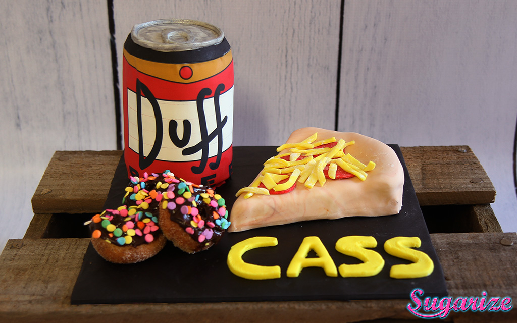 Simpsons Duff Beer Cake