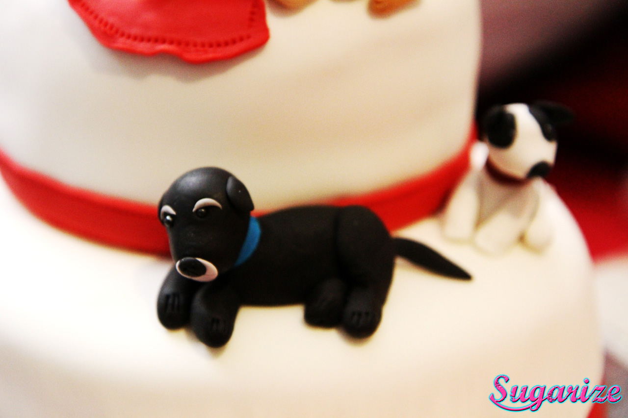 fondant black dog sugarize