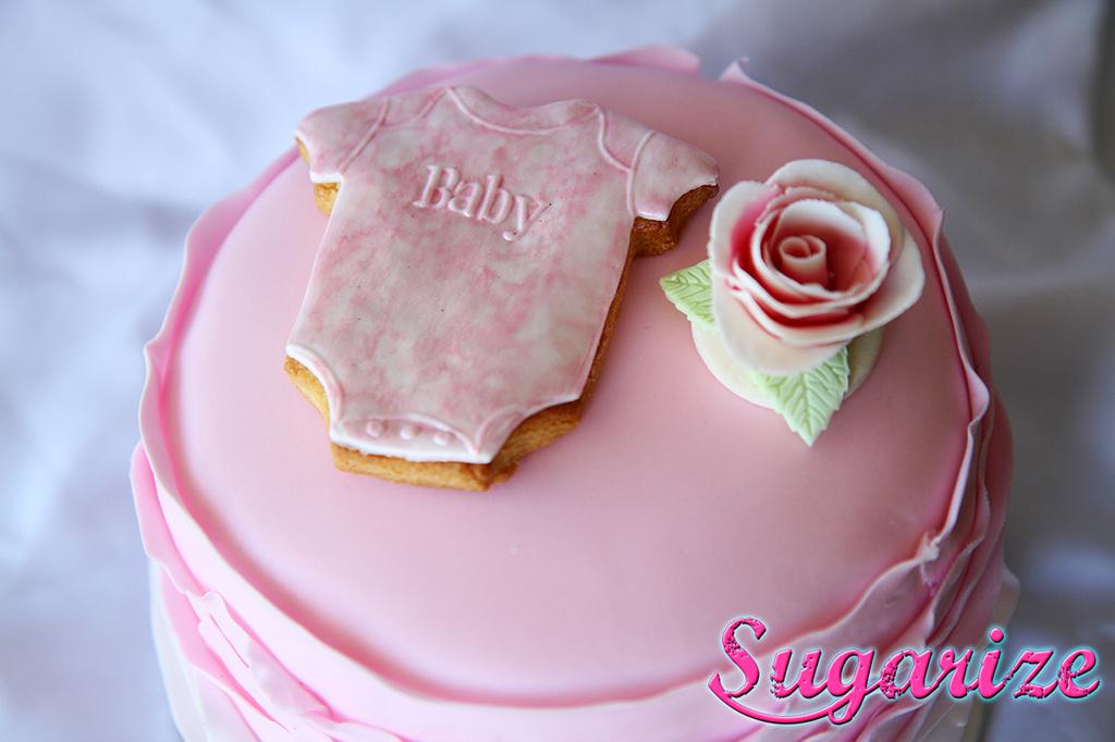 Sugarize Ombre Ruffle cake