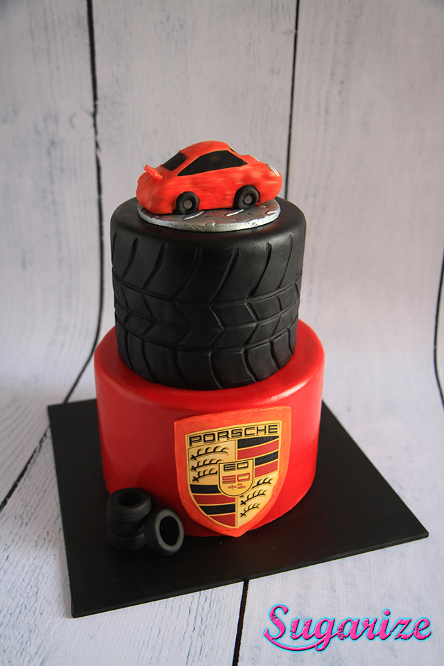 Sugarize Porsche Car Cake