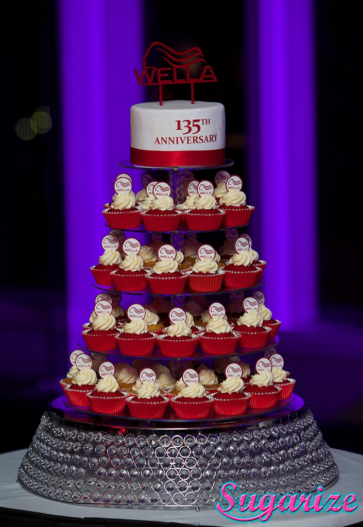 Wella cupcake tower